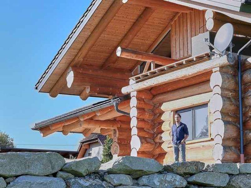 Das Baumstamm-Haus im Mühlviertel