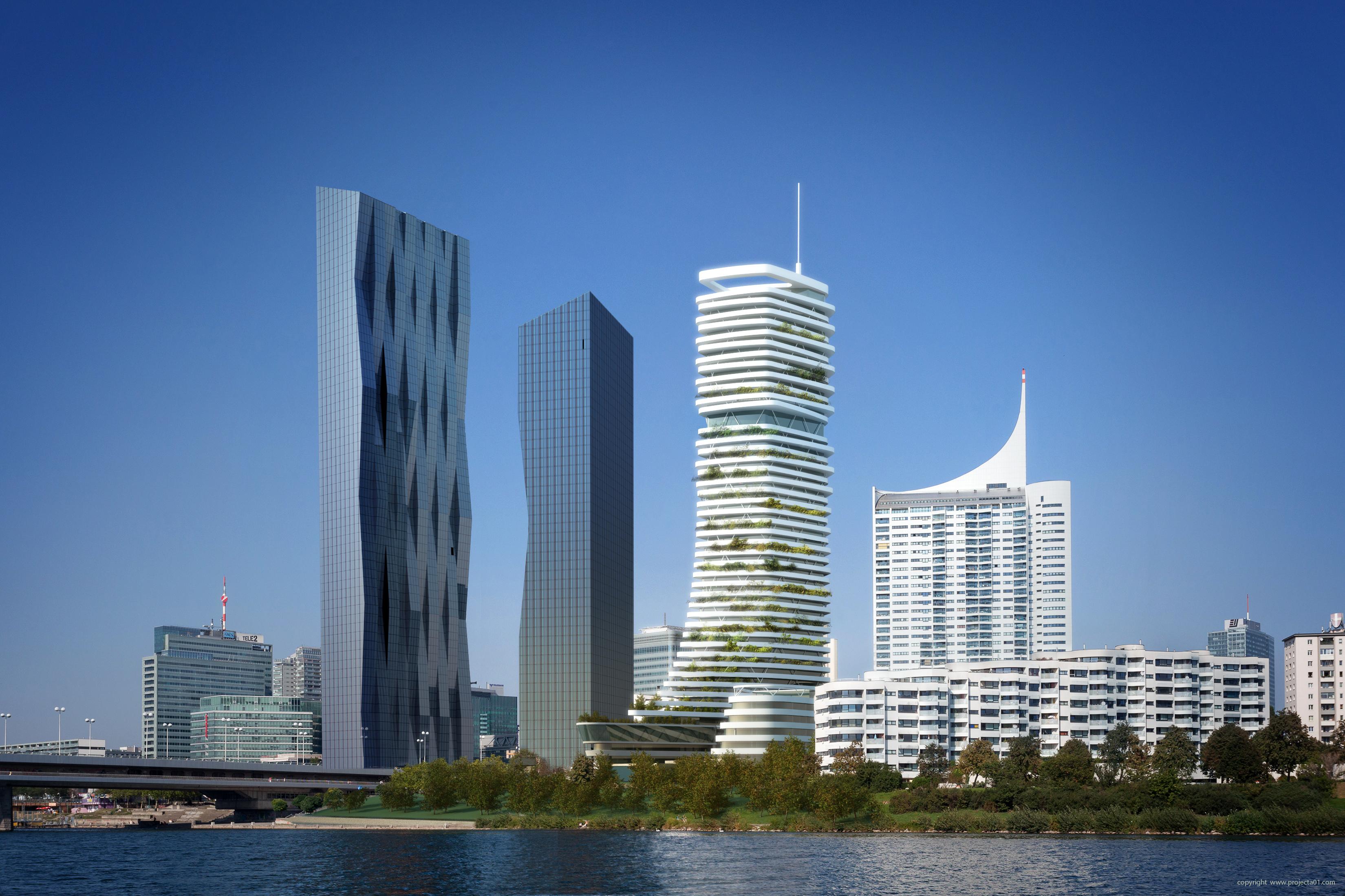 Danube Flats: Österreichs höchster Wohnturm wird gebaut