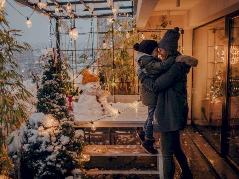 Terrasse: Auch im Winter draußen sitzen